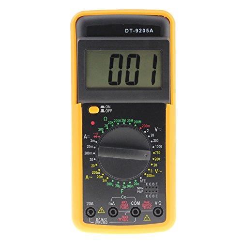 prettygood7 Digital DT-9205A Multimeter LCD AC/DC Amperemeter Widerstand Kapazität Tester