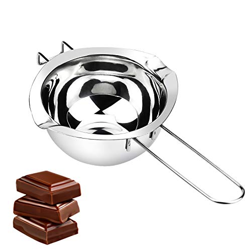 ZHENA Pentolino Bagnomaria Cioccolato 400 ml, Pentolino Bagnomaria Acciaio Inox per Sciogliere Cioccolato o Burro