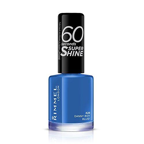 Rimmel London 60 Secons Super Shine nagellak, 8 ml 8 ml Danny Boy Blue.