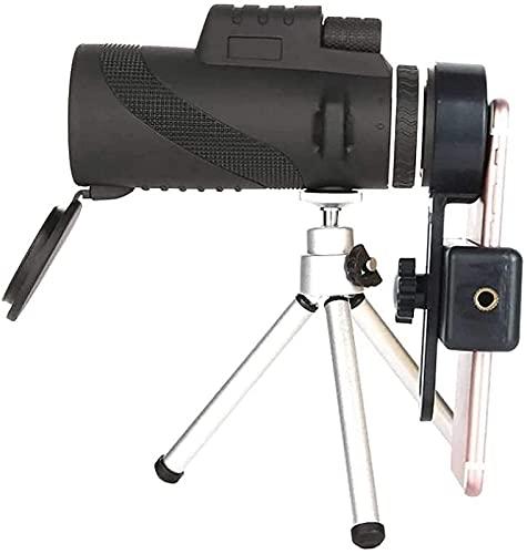 Telescopio de Alta definición 5060 Lente de Zoom Telescopio monocular Prisma para teléfono móvil con Adaptador de teléfono Inteligente Trípode Traje para Senderismo Camping Observación de Aves