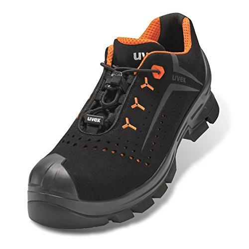 Uvex 2 Arbeitsschuhe - Sicherheitsschuhe S1P SRC ESD - Orange-Schwarz, Größe:44