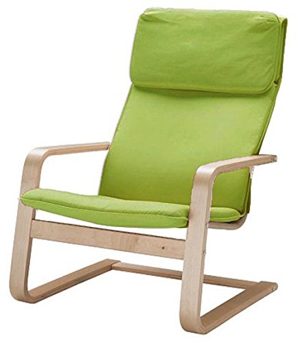 Las fundas de algodón de repuesto para silla Pello están hechas a medida para la funda de silla IKEA Pello (o funda para sillón de Pello). Opciones de varios colores., Algodón verde.