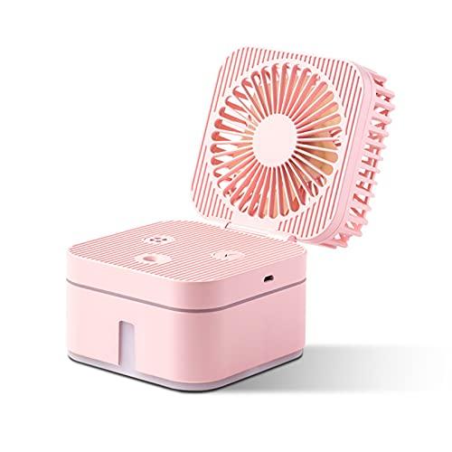 WEIZIT Ventilador humidificador de Cubo, luz Nocturna, detección multifunción, Spray ultrasónico de Apagado automático, Ventilador de Carga USB