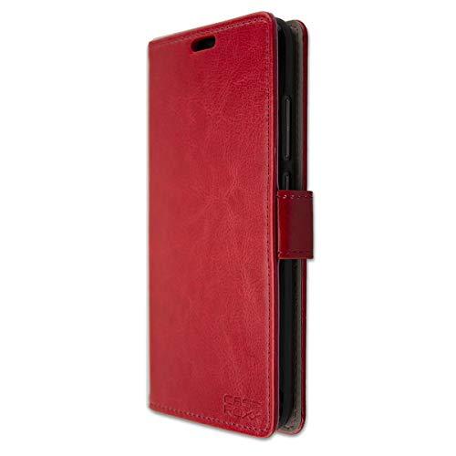 caseroxx Hülle für das Gigaset GS270, Taschen in verschiedenen Varianten (Flipcase, TPU-Bumper & Bookstyle) & (Bookstyle-Tasche, rot)