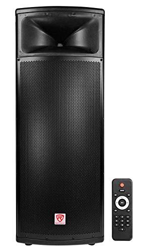 "Rockville BPA225 Dual 15"" Powered Active 1500w Pro DJ PA Speaker w Bluetooth+TWS"