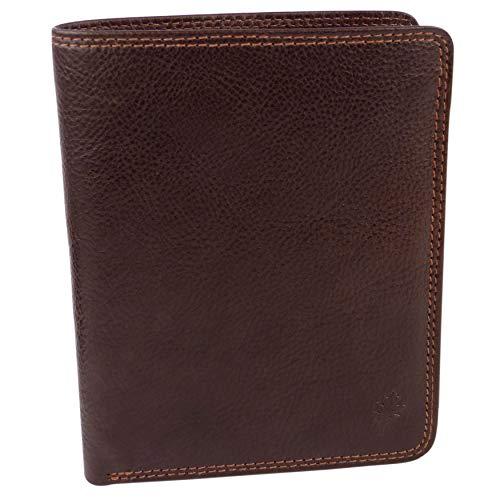 Golunski, a portafoglio, in pelle, colore: marrone, colore: nero o marrone, Scatola di imballaggio 17 maglie di carte di credito, scatola da imballaggio nuovo per uomo