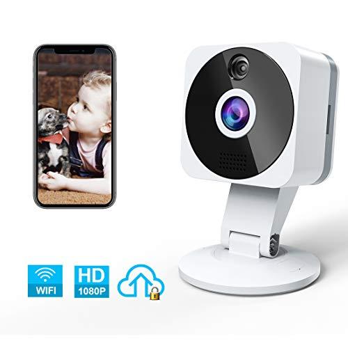 Camera Surveillance WiFi Interieur, NIYPS Full HD 1080P sans Fil Camera IP Sécurité avec 2 Voies Audio,Detecteurde Mouvement,Vision Nocturne et Cloud, Mini Babyphone Camera Bebe a Distance