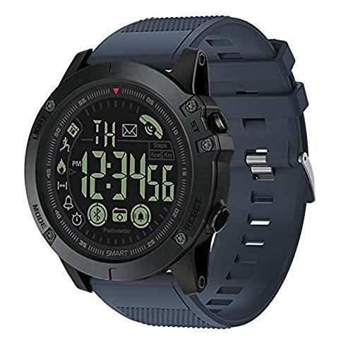T1tatto di grado militare super resistente orologio parlante Smart Watch sport outdoor uomo orologio sportivo impermeabile pedometro calorie Counter digitale multifunzione Bluetooth Smart Watch