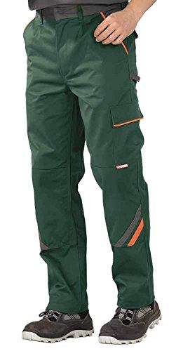 Planam Arbeitshose / Bundhose Visline in vielen Farben und Größen! (54, grün-orange-schiefer)