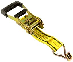 PROGRIP 310001 Heavy Duty Ratchet Tie Down with Step Release and Webbing Strap: J-Hooks, 27' x 2