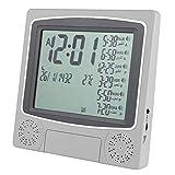 Weikeya Reloj de oración completo Azan, alarma de oración Mulsim, función de retroiluminación digital, simple hecho de plástico