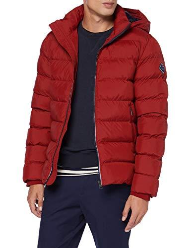 GANT D1. The Active Cloud Jacket Chaqueta, Rojo Caoba, M para Hombre