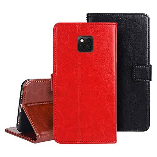 DAYNEW für Asus Zenfone 3 Deluxe ZS550KL/ZS550ML Hülle,Handyhülle für Asus Zenfone 3 Deluxe ZS550KL/ZS550ML[Magnetisch][Kartenfächern]für Asus Zenfone 3 Deluxe ZS550KL/ZS550ML Cover-Rot