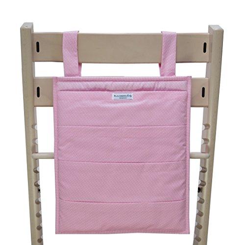 Blausberg Baby - Utensilo pour Stokke Tripp Trapp chaise haute - rose petits pois