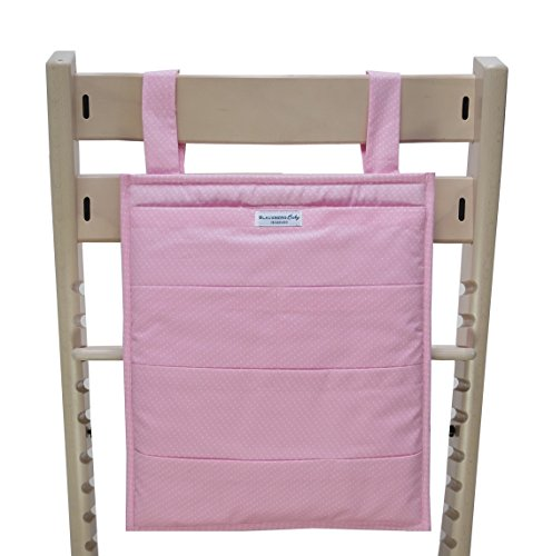 Blausberg Baby - Utensilo pour Stokke Tripp Trapp chaise haute - rose petits pois