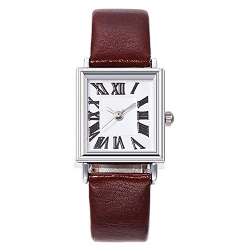 shandianniao Reloj de Pulsera Delgada, Reloj de Damas cuadradas Personalizadas en Escala Romana (Color : E)