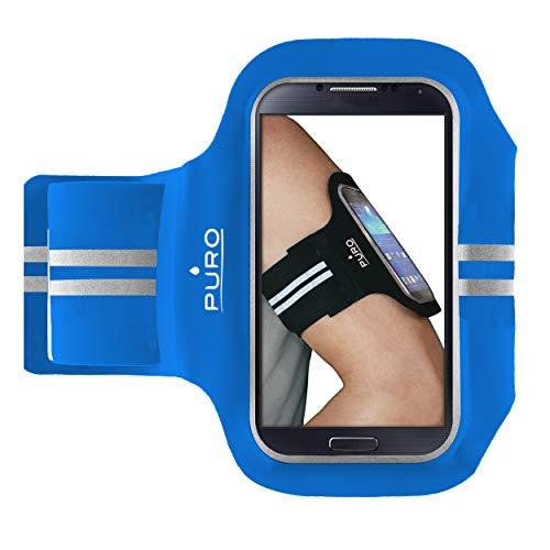 Puro PUFB014 - Funda Brazalete para móviles de 5', Color Azul