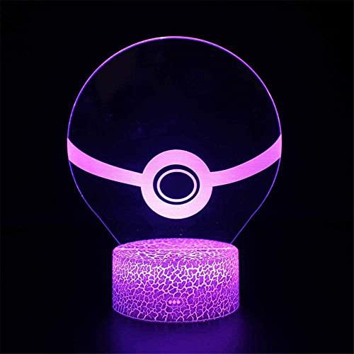 Pokémon LED lámpara 3D ilusión visual táctil juguetes para niños, 7 años de edad, regalo niño edad 7 6 5 4 3