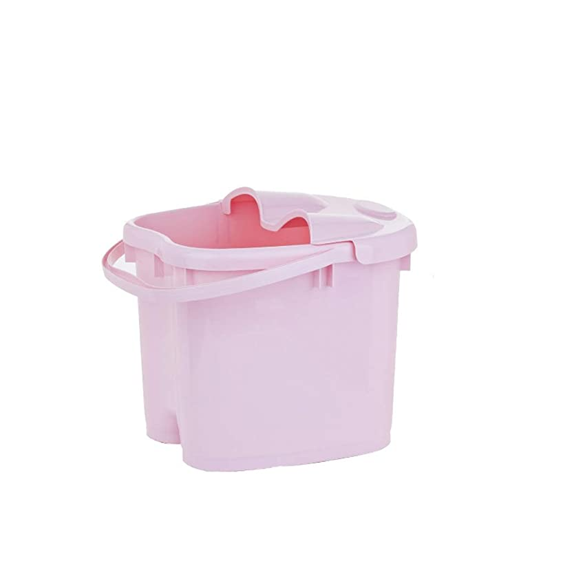 差し控えるエトナ山砂のBB- ?AMT携帯用高まりのマッサージの浴槽のふたの熱保存のフィートの洗面器の世帯が付いている大人のフットバスのバケツ 0405 (色 : ピンク, サイズ さいず : 30.5cm high)