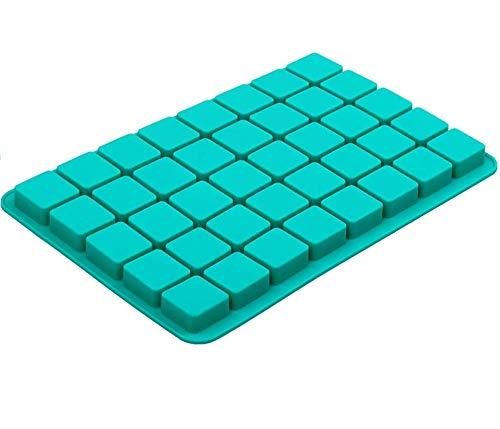 Quadratische Silikon-Form für Schokolade, 40 Mulden, Karamell, Schokolade, Trüffel, Schokolade, Ganache, Gelee und Pralinen, Eiswürfelform (30 x 20 x 1,5 cm)