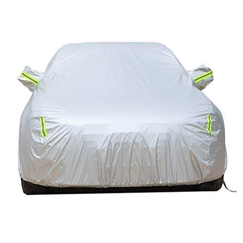 Compatibel met UniversalFiat Fiorino Volledige Waterdichte Auto Cover - Ademend - Outdoor Auto Cover Zonnescherm Isolatie Seizoenen Grijs