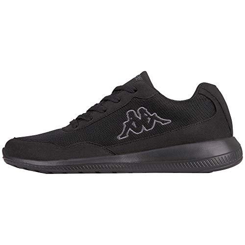 Kappa Follow OC, Sneaker Unisex – Adulto, Schwarz (1116 Black/Grey), 37 EU