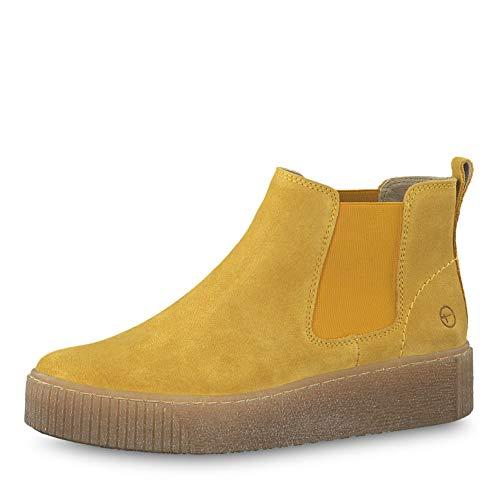 Tamaris Damen Stiefeletten 25813-33, Frauen Ankle Boots, halbstiefel Stiefelette Bootie knöchelhoch reißverschluss Damen Lady,Saffron,40 EU / 6.5 UK