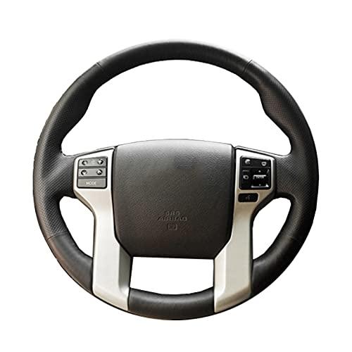 Cubierta de Volante WrapDIY Cosida a Mano, Apta para Toyota Land Cruiser Prado Tundra Tacoma, Antideslizante, Transpirable