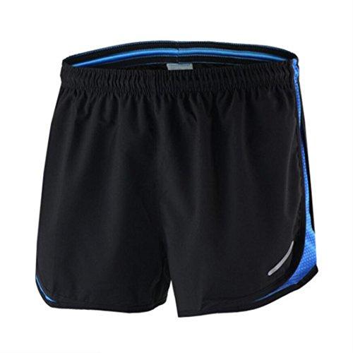 X-Labor Herren Sport Marathon Shorts Kurz Laufhose mit Innenslip Fitness Gym Yoga Laufshorts Trainingsshorts Sporthose blau L
