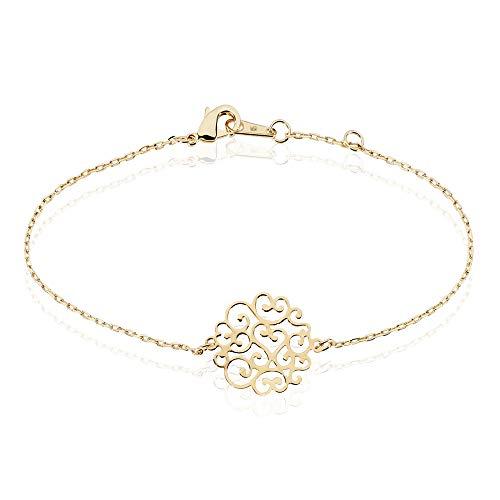 Rendez-vous RueParadis Paris Bracelet Chaîne Femme Plaqué Or - Bijoux Femme Idée Cadeau