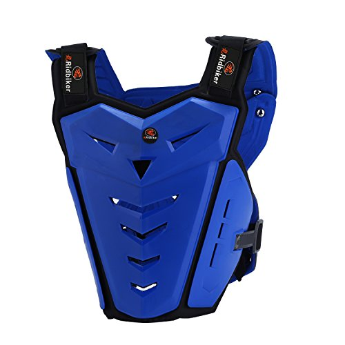 RIDBIKER Motorcycle Armor Vest Motorcycle Riding Chest Armor Back Protector Armor Motocross Off-Road Racing Vest,Blue