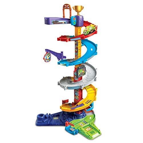 Vtech 80-535004 TUT Baby Flitzer-2-in-1-Turboturm Babyspielzeug, Rennbahn, Parkhaus, Auto