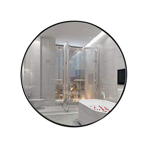 WANGXIAOLIN Specchi per arredi murali, Specchio Bagno Nordico, Bagno Specchio cosmetico a Parete Grande Specchio Rotondo, per camere da Letto, Hotel, condimento, Club Sala Specchio per Il Trucco