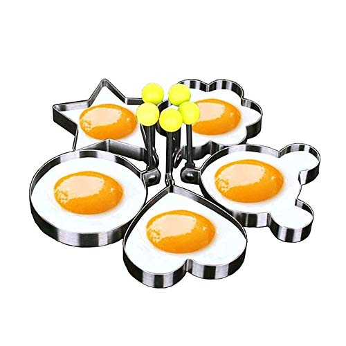 morebeauty Kitchen Stainless Steel Cute Shaped Fried Egg Mold Pancake Rings Mold
