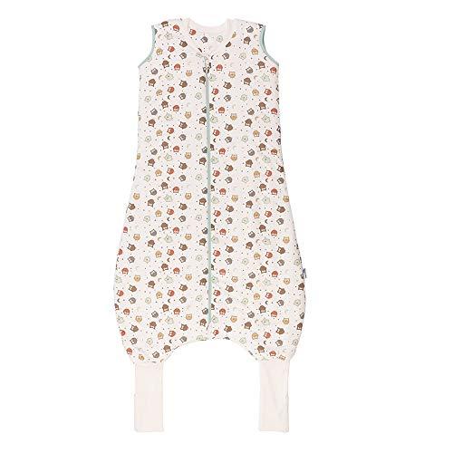 Schlummersack Ganzjahres Schlafsack mit Beinen und verlängerten Fußbündchen zum Umklappen 2.5 Tog - Eule - 100 cm