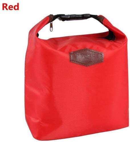 Sacs à lunch d'isolation, Morbuy feuille d'aluminium épaisse de sacs de glace en tissu Oxford, sac de glace fraîche, sac isotherme, sacs de pique-nique, des sacs de repas, sacs de stockage. (Rouge)