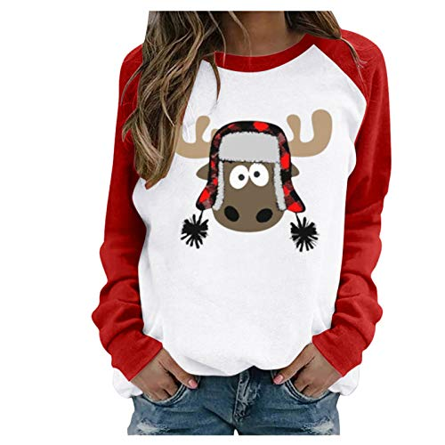 LUOMIO Women's Sequin Snowman Christmas Sweater - Gray Snowflake Embellished Women Ugly Tree Reindeer Holiday Pullover