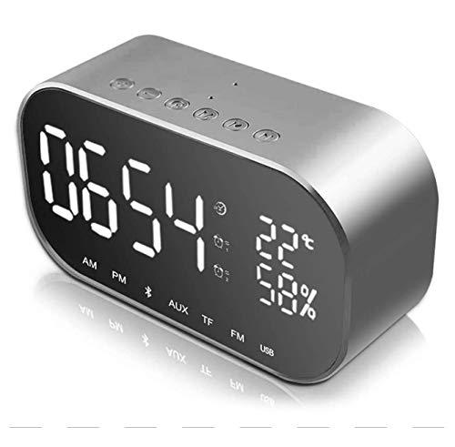 HowiseAcc - Reloj despertador digital LED con espejo de viaj