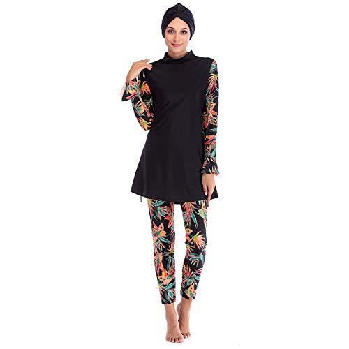 SILIJUE Frauen Bescheidene muslimische Badebekleidung Islamischer Badeanzug Hijab Badebekleidung Voller muslimischer Badeanzug (L1, S)