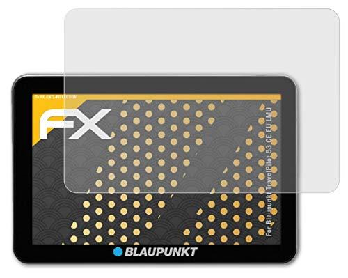 atFoliX Panzerfolie kompatibel mit Blaupunkt TravelPilot 53 CE EU LMU Schutzfolie, entspiegelnde & stoßdämpfende FX Folie (3X)