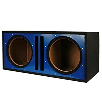 Absolute PDEB10B Double 10-Inch Ported Subwoofer Enclosure with Blue High Gloss Face Board
