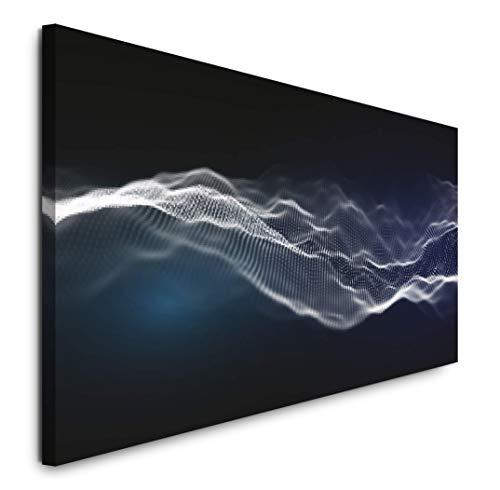 Paul Sinus Art GmbH Musik abstrakt 120x 50cm Panorama Leinwand Bild XXL Format Wandbilder Wohnzimmer Wohnung Deko Kunstdrucke