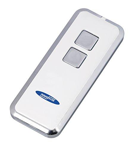 Garagedeur afstandsbediening Novotron 522 (2 kanaals zender; 64/128 bits encryptie; 433 MHz; zilver/wit) TM15912001150