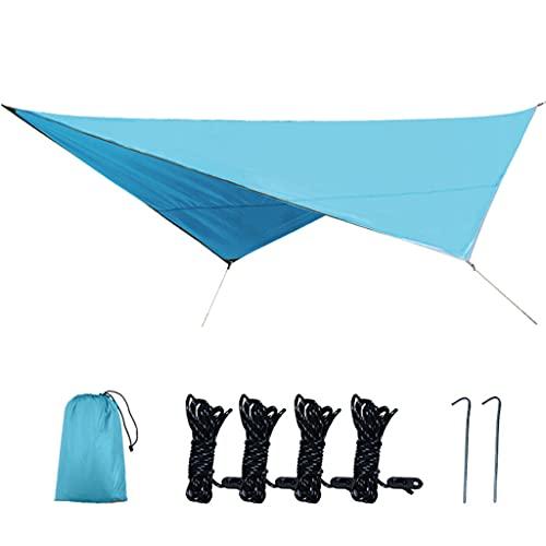 YQ&TL Velas de Sombra Multifunción Exterior Toldo,Dosel de Cuatro Esquinas Parasol Plateado Recubierto de Tela Oxford,Pérgola Portátil,para Pesca Playa Camping Garden Blue