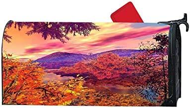 Personalisierte Briefkastenabdeckung, personalisierbar, magnetisch, Größe für US Mailboxen, Größe – Landschaft, schönes Aumtun