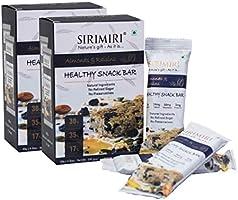 Sirimiri Nutrition Bar - Almonds & Raisins - Pack Of 12 (Each 40 Gm) No Preservative, No Added Sugar, Gluten Free, Soy Free