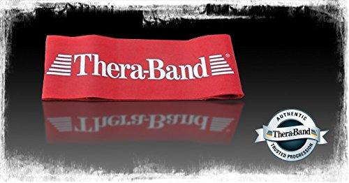 Thera Band Loop Übungsband Fintessband Gymnastikband, ø 20 cm mittel ROT