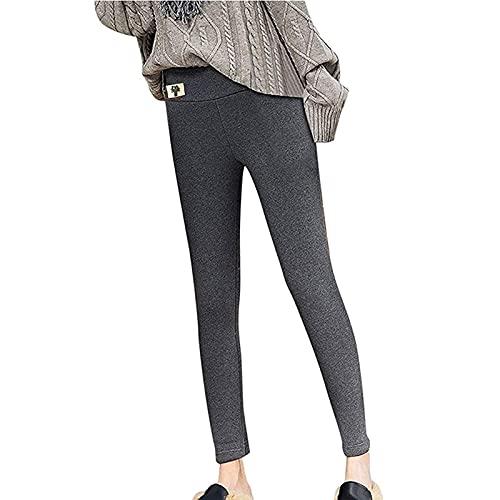 Yokbeer Thermo Leggins Mujer Pantalones Largos de Lana de Cintura Alta Pantalones de Jogging Cálidos de Invierno Pantalones Termo Forrados de Gran Tamaño Medias Elásticas Pantalones de Yoga