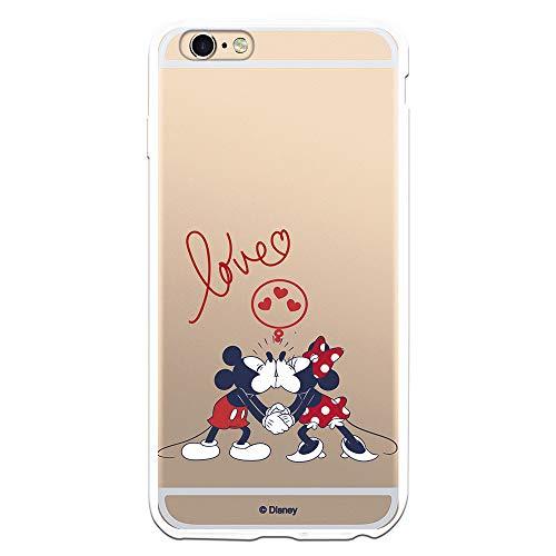 Funda para iPhone 6 Plus - 6S Plus Oficial de Clásicos Disney Mickey y Minnie Love para Proteger tu móvil. Carcasa para Apple de Silicona Flexible con Licencia Oficial de Disney.