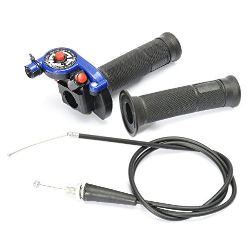 WCHAOEN 22mm 7/8 Zoll Drosselklappe Mit Kabel Blau 125ccm 140ccm 150c Pit Bike Ersatzteile
